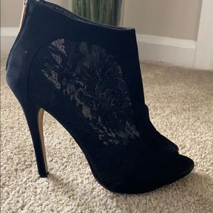 Black lace booties by Aldo size 8 1/2